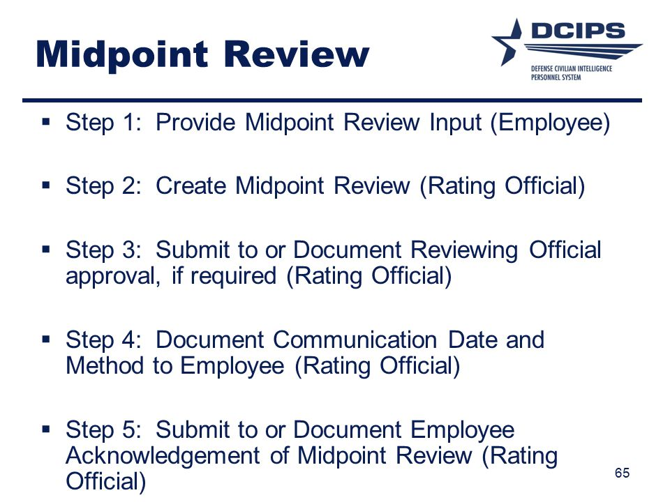 Midpoint Review Step 1: Provide Midpoint Review Input (Employee)