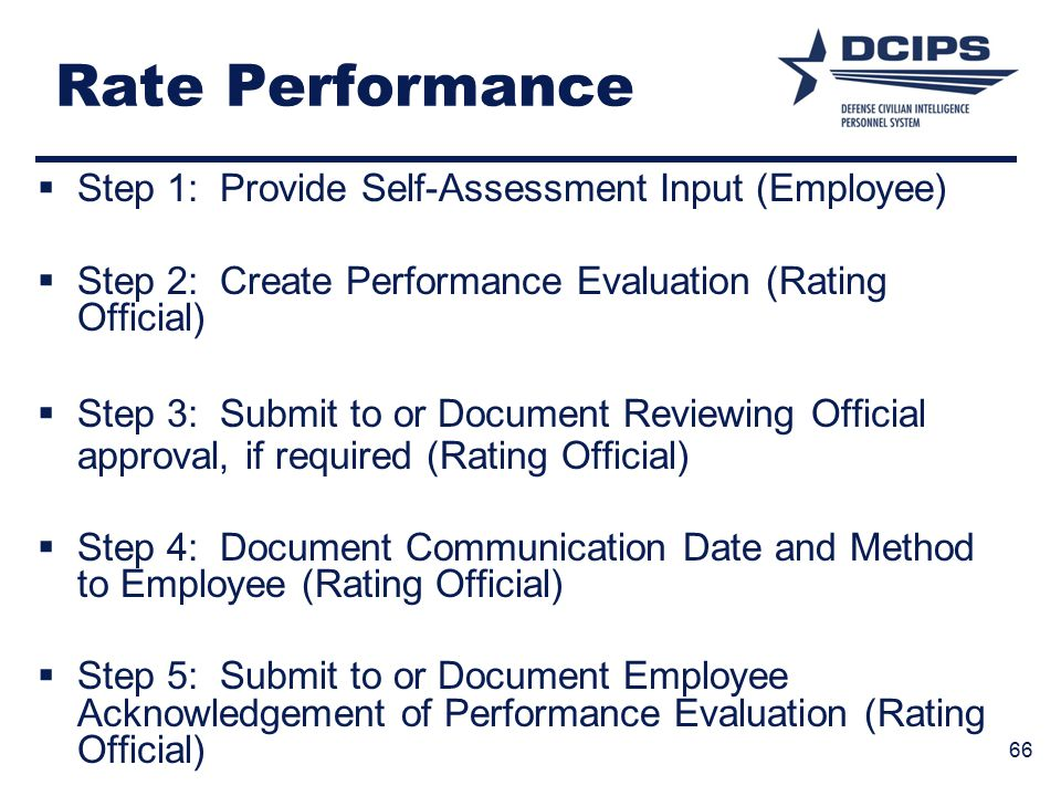 Rate Performance Step 1: Provide Self-Assessment Input (Employee)