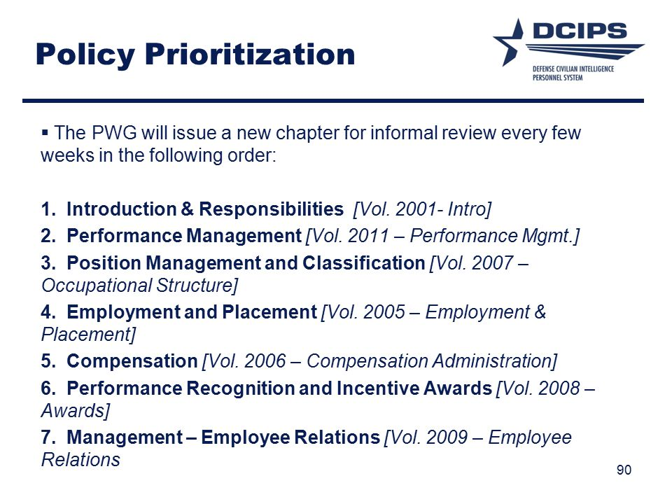Policy Prioritization