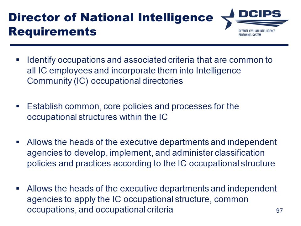 Director of National Intelligence Requirements