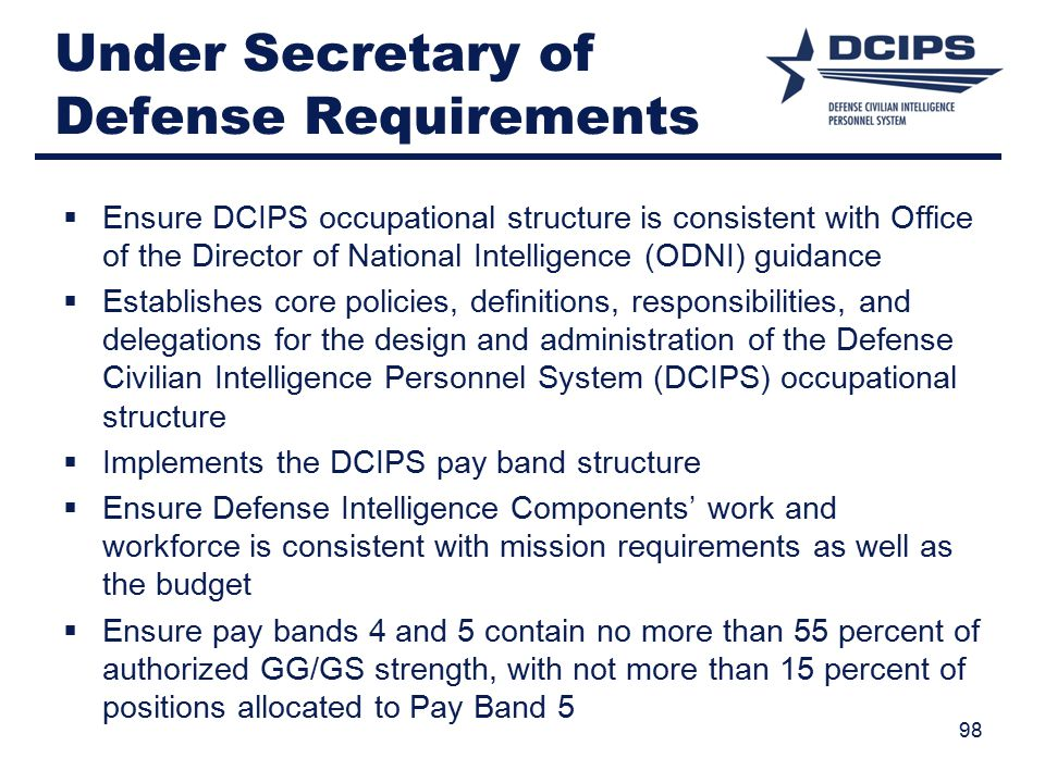 Under Secretary of Defense Requirements