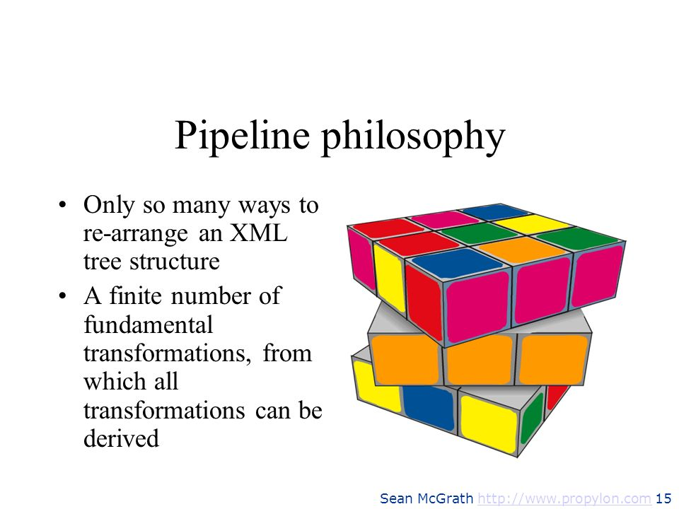 Pipeline philosophyOnly so many ways to re-arrange an XML tree structure.