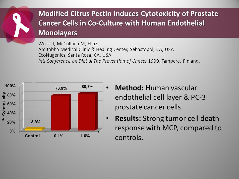 Modified Citrus Pectin Induces Cytotoxicity of Prostate Cancer Cells in Co-Culture with Human Endothelial Monolayers