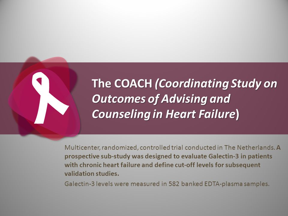 The COACH (Coordinating Study on Outcomes of Advising and Counseling in Heart Failure)