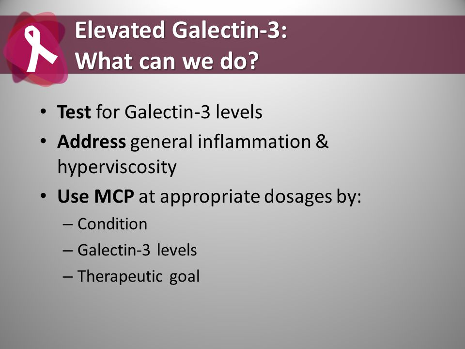 Elevated Galectin-3: What can we do