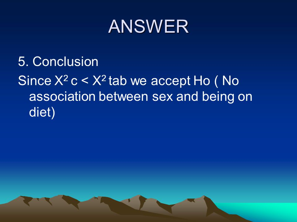 ANSWER 5. Conclusion.