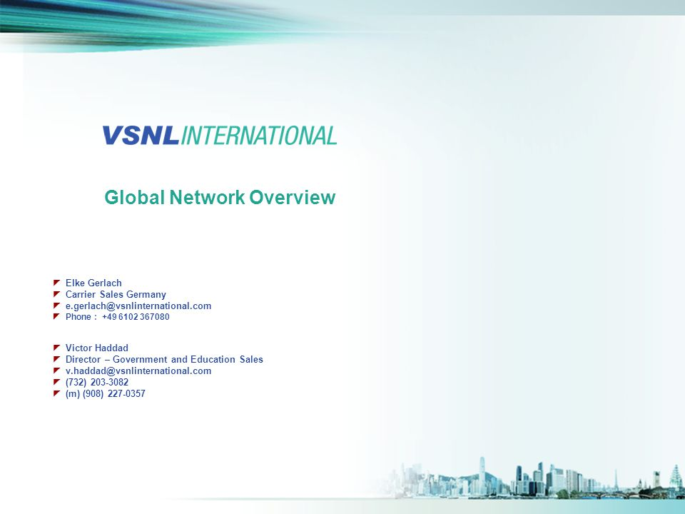 Global Network Overview
