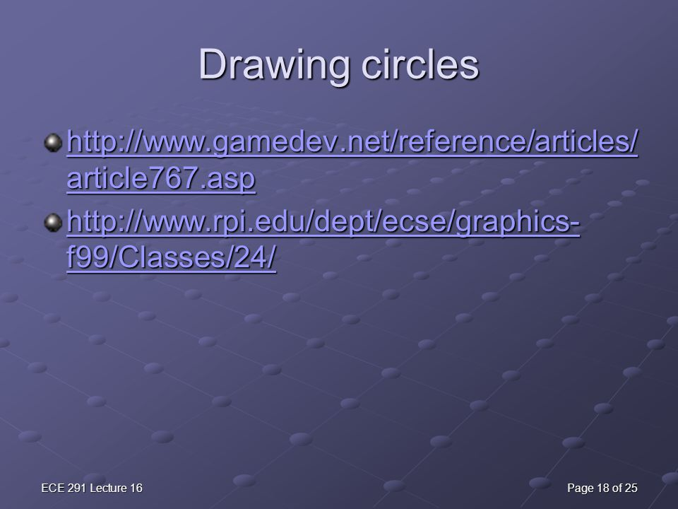 Drawing Lines In Asp : Lecture 16 fun with graphics ppt download