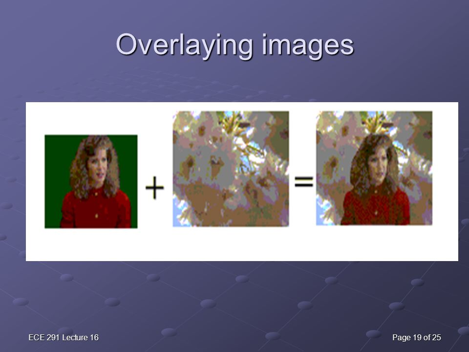 Overlaying images ECE 291 Lecture 16 Page 19 of 25