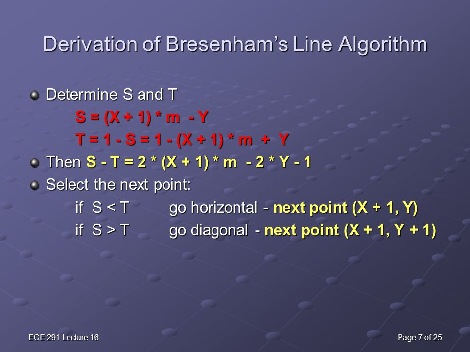 Bresenham Line Drawing Algorithm In C For All Slopes : Lecture 16 fun with graphics ppt download