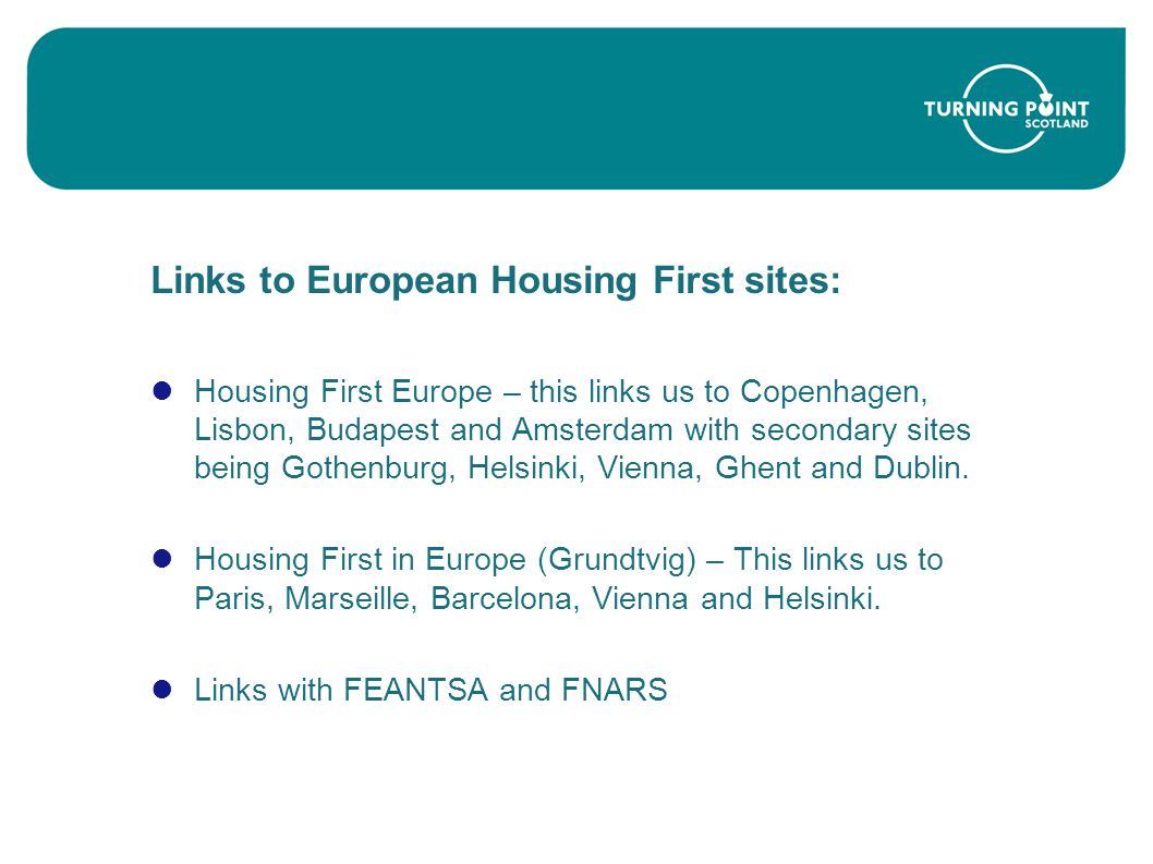 Links to European Housing First sites: