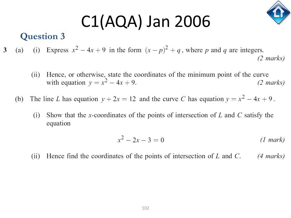 C1(AQA) Jan 2006 Question 3