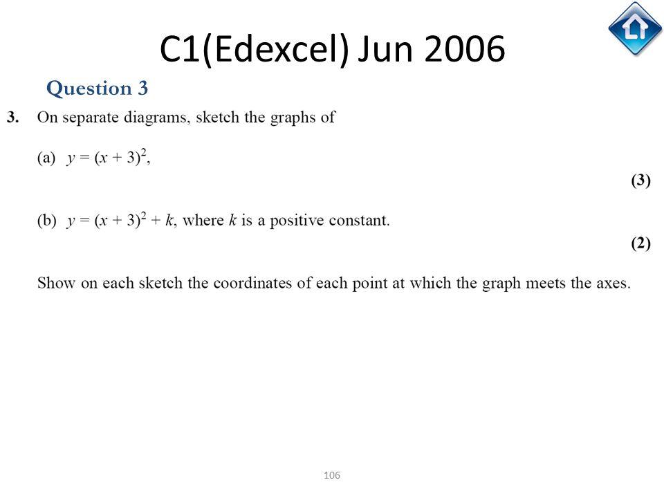 C1(Edexcel) Jun 2006 Question 3
