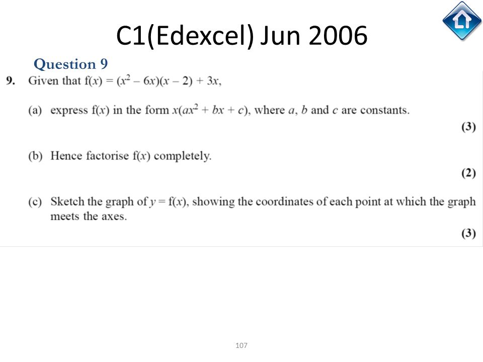 C1(Edexcel) Jun 2006 Question 9