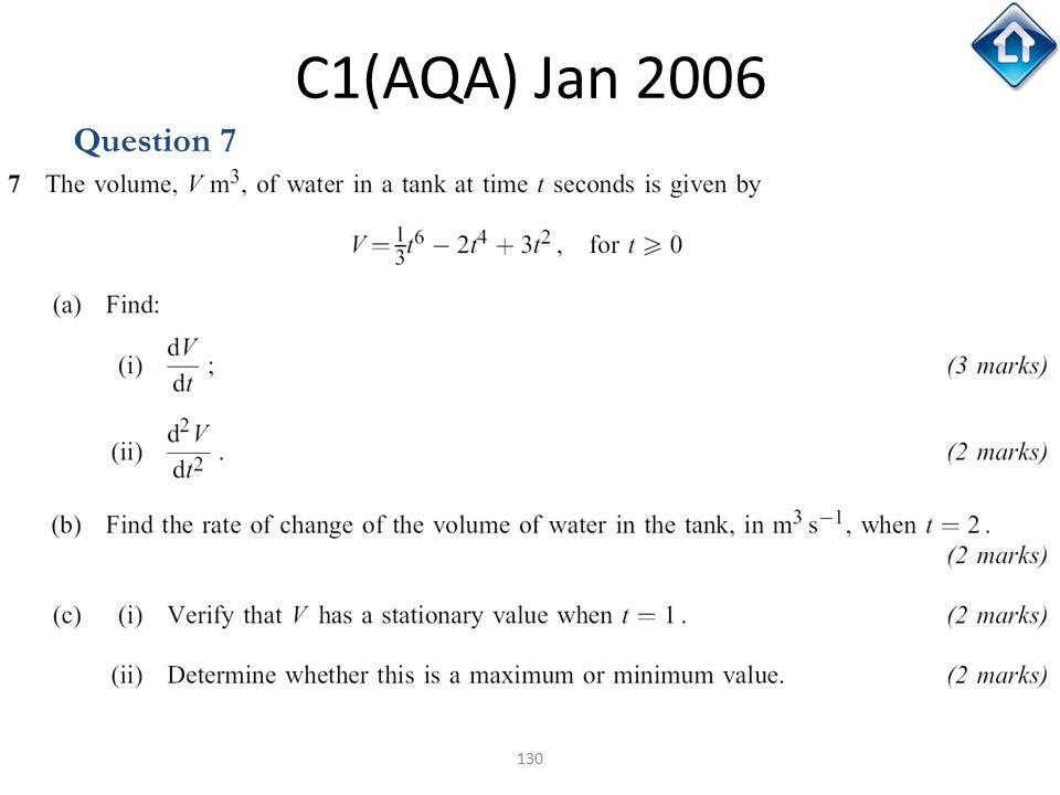 C1(AQA) Jan 2006 Question 7