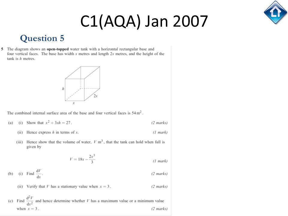 C1(AQA) Jan 2007 Question 5