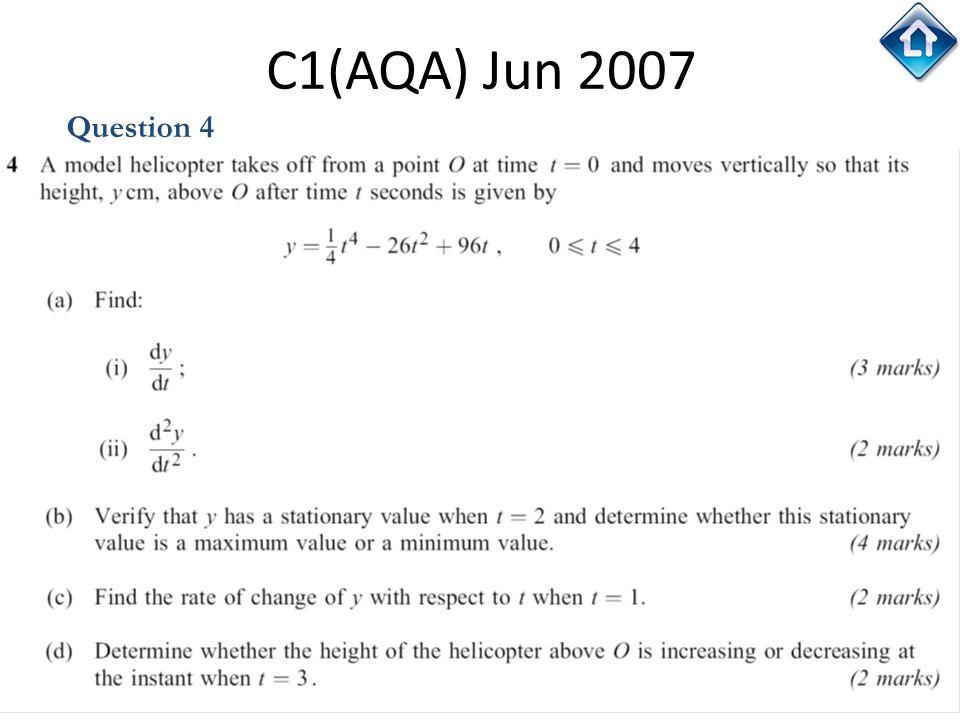 C1(AQA) Jun 2007 Question 4
