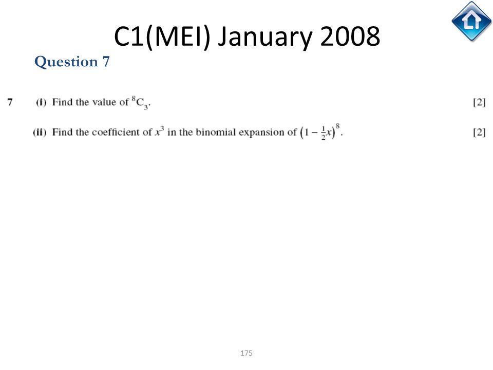 C1(MEI) January 2008 Question 7