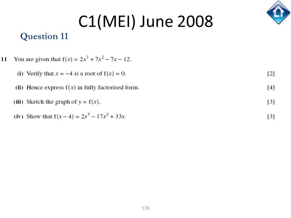 C1(MEI) June 2008 Question 11