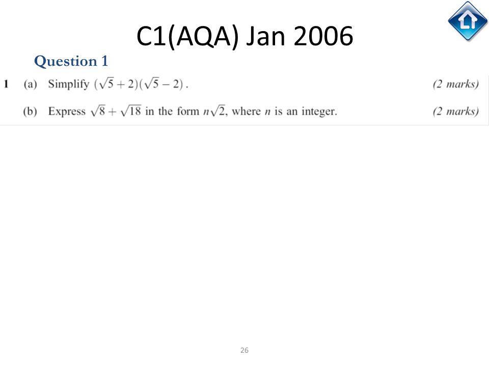 C1(AQA) Jan 2006 Question 1