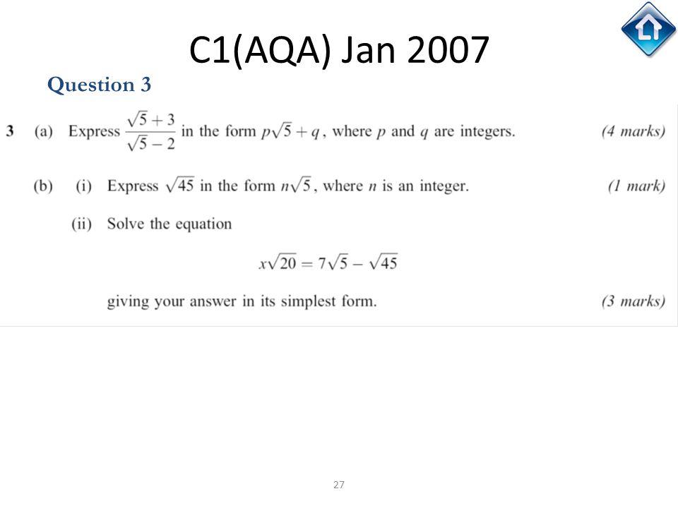 C1(AQA) Jan 2007 Question 3