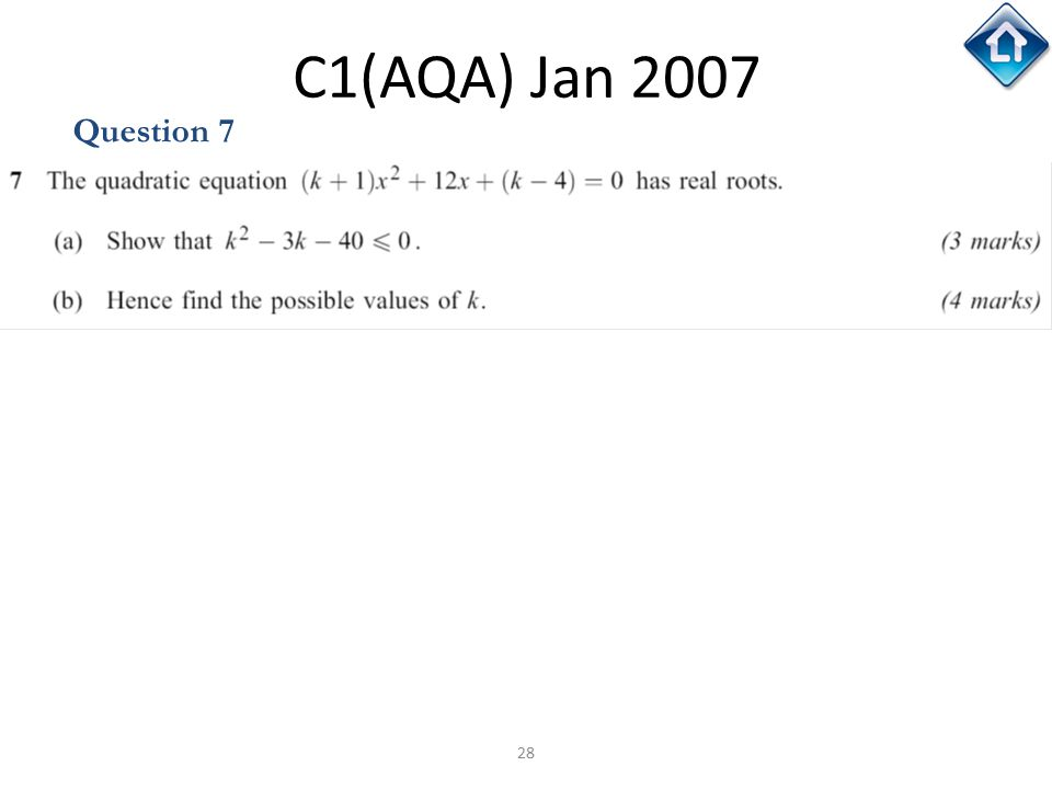 C1(AQA) Jan 2007 Question 7