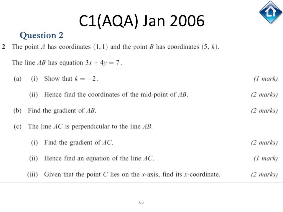 C1(AQA) Jan 2006 Question 2