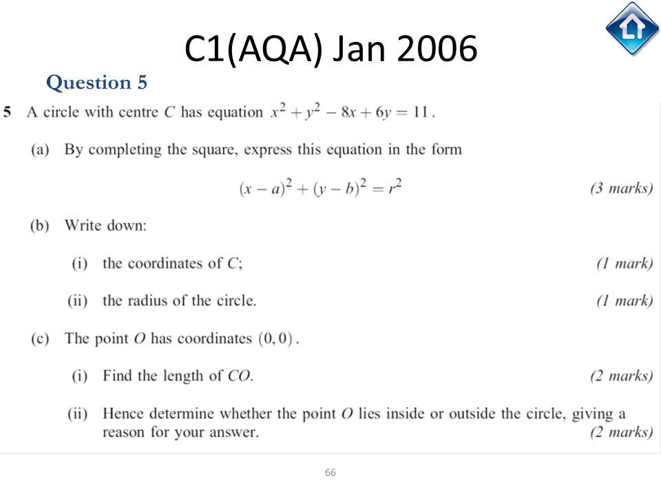 C1(AQA) Jan 2006 Question 5