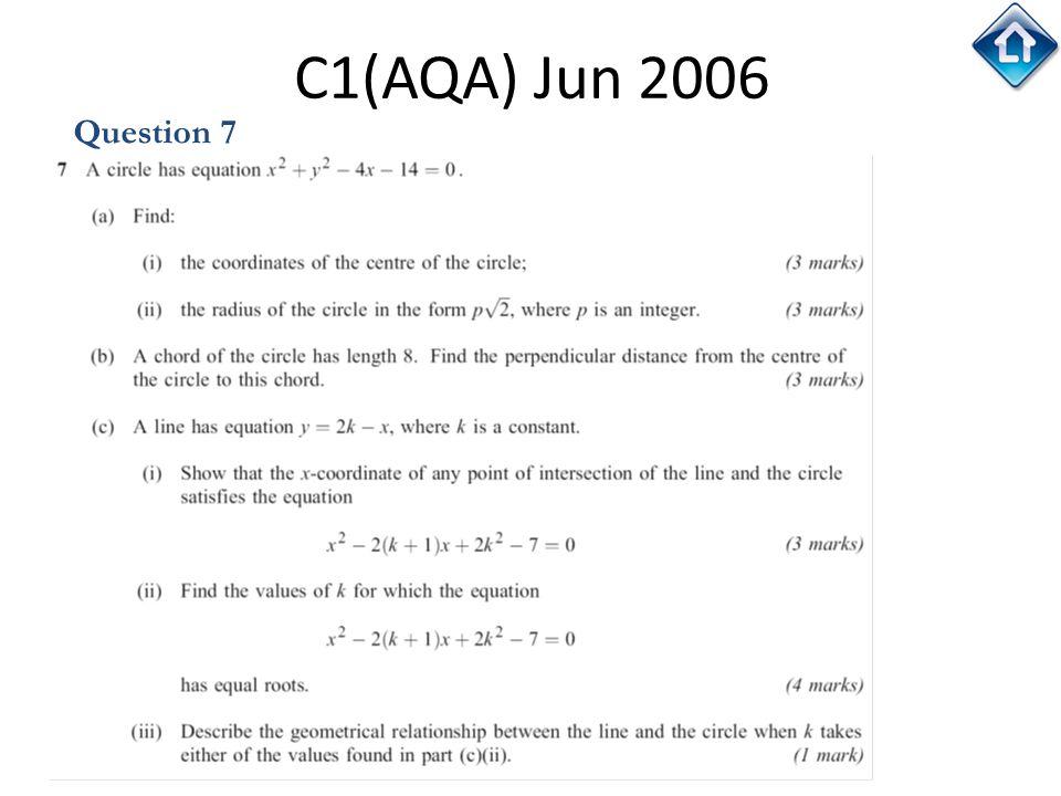 C1(AQA) Jun 2006 Question 7
