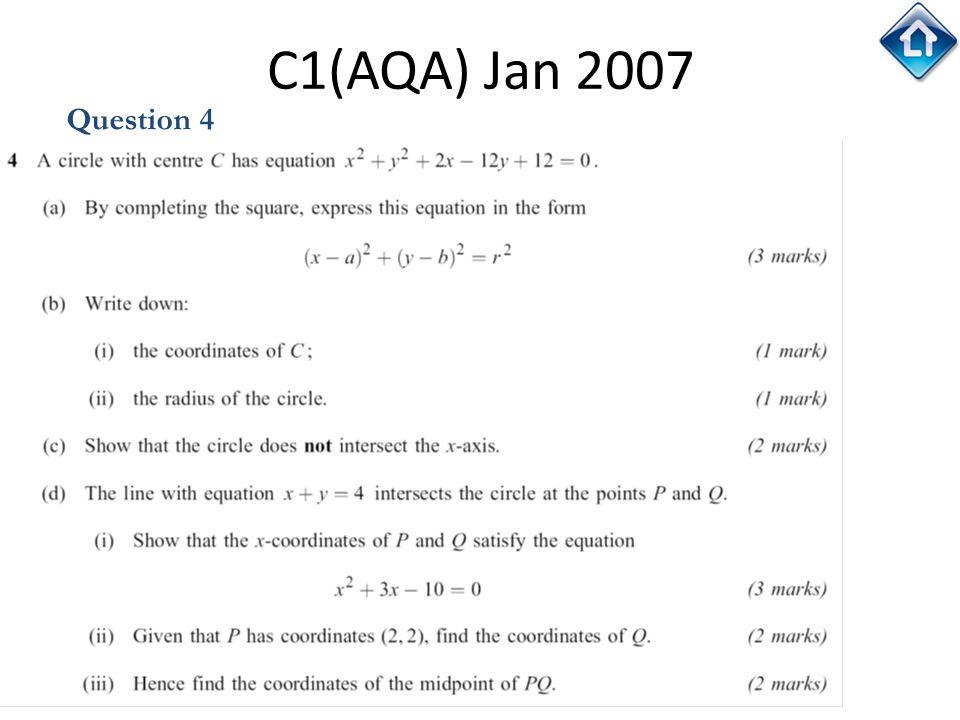 C1(AQA) Jan 2007 Question 4