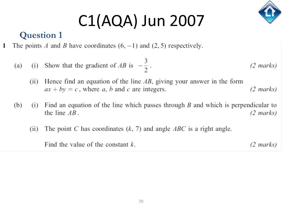 C1(AQA) Jun 2007 Question 1