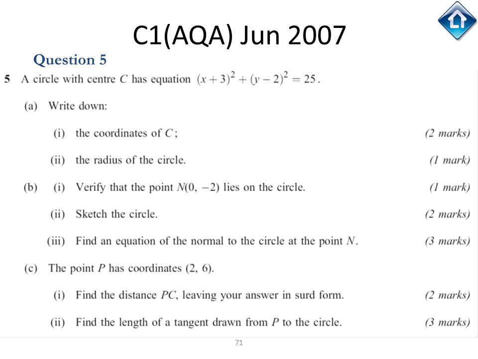 C1(AQA) Jun 2007 Question 5