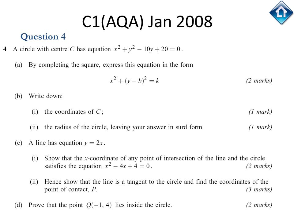 C1(AQA) Jan 2008 Question 4