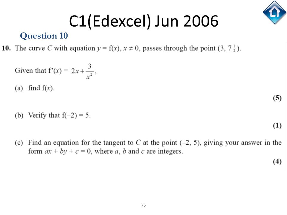 C1(Edexcel) Jun 2006 Question 10