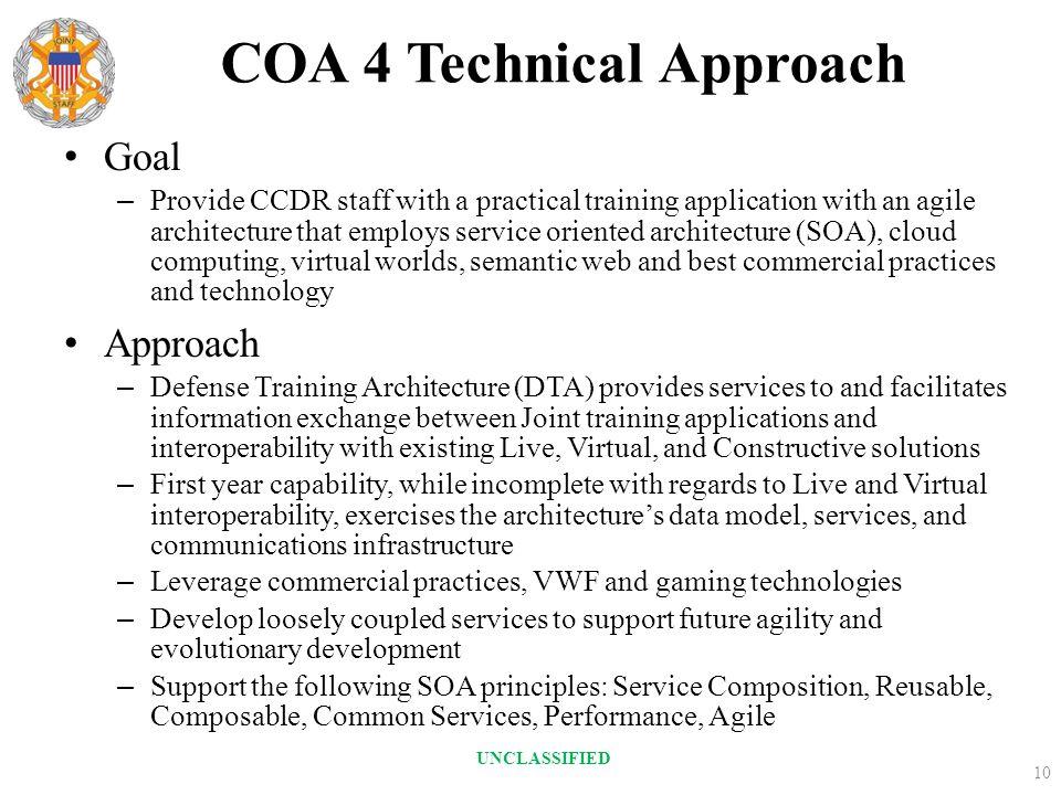 COA 4 Technical Approach