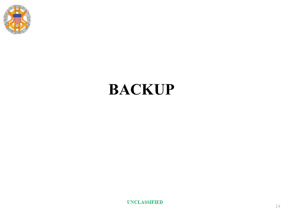 BACKUP UNCLASSIFIED