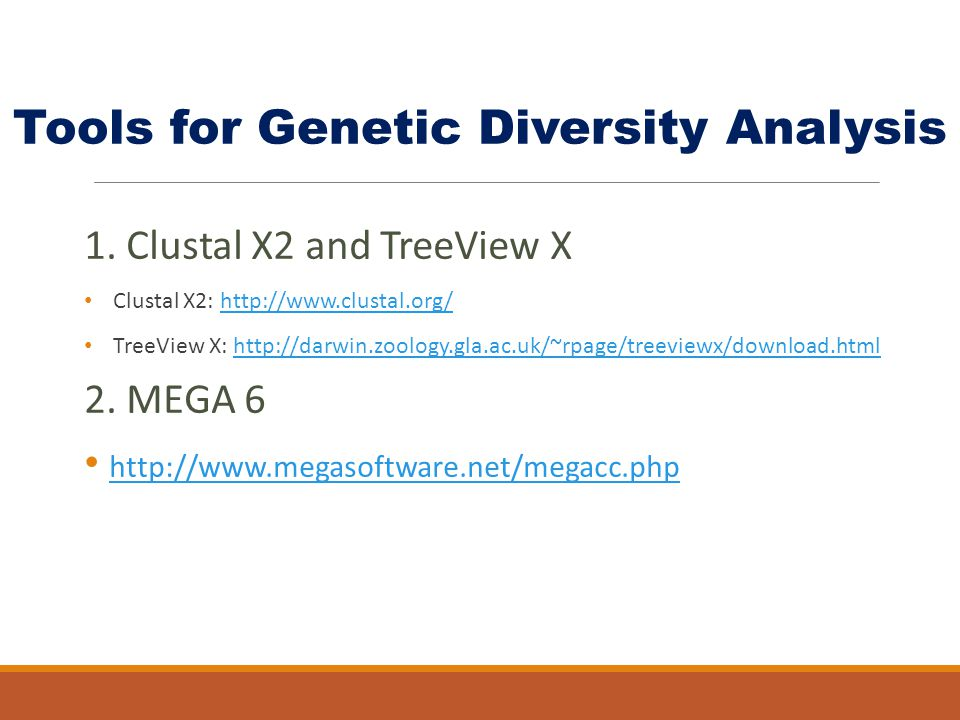 Tools for Genetic Diversity Analysis