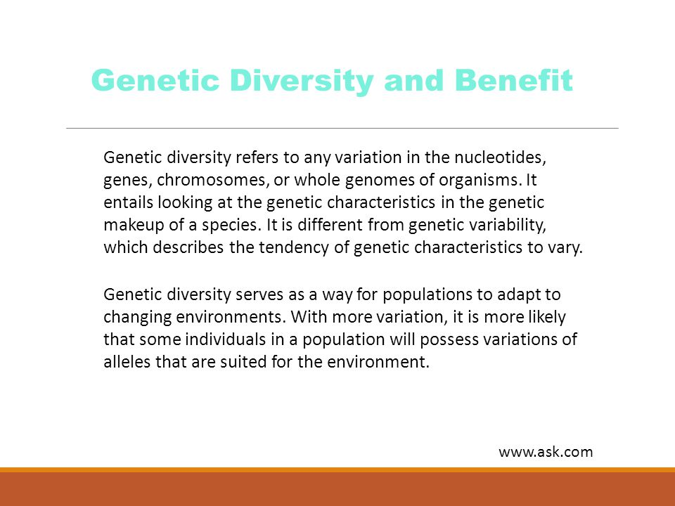 Genetic Diversity and Benefit
