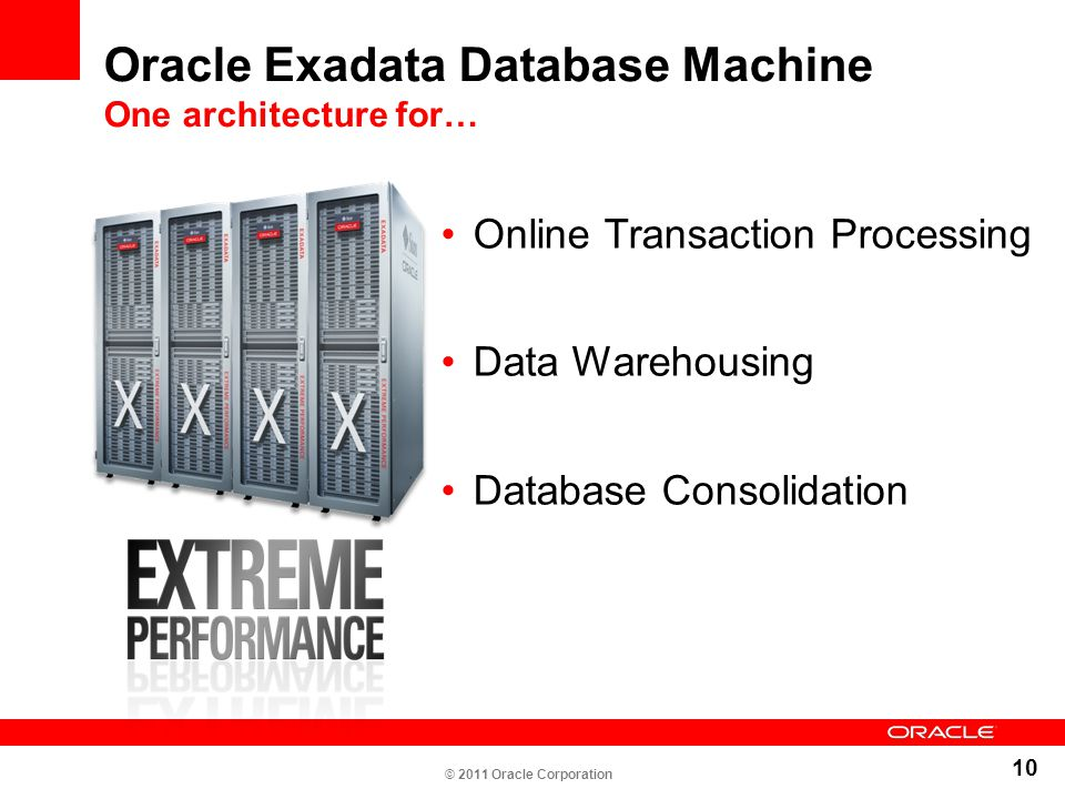 Oracle Exadata Database Machine One architecture for…
