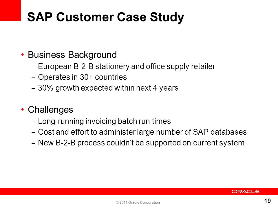 SAP Customer Case Study