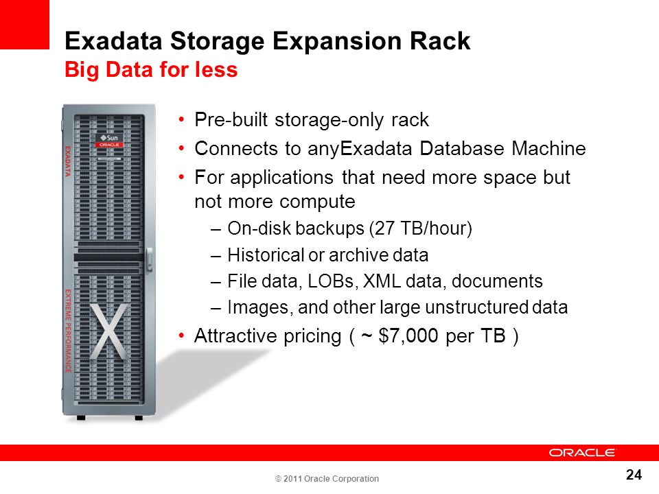 Exadata Storage Expansion Rack Big Data for less
