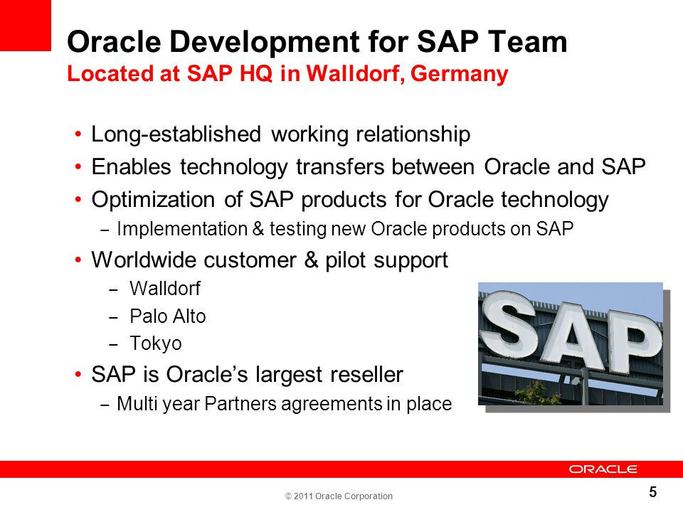 Oracle Development for SAP Team Located at SAP HQ in Walldorf, Germany