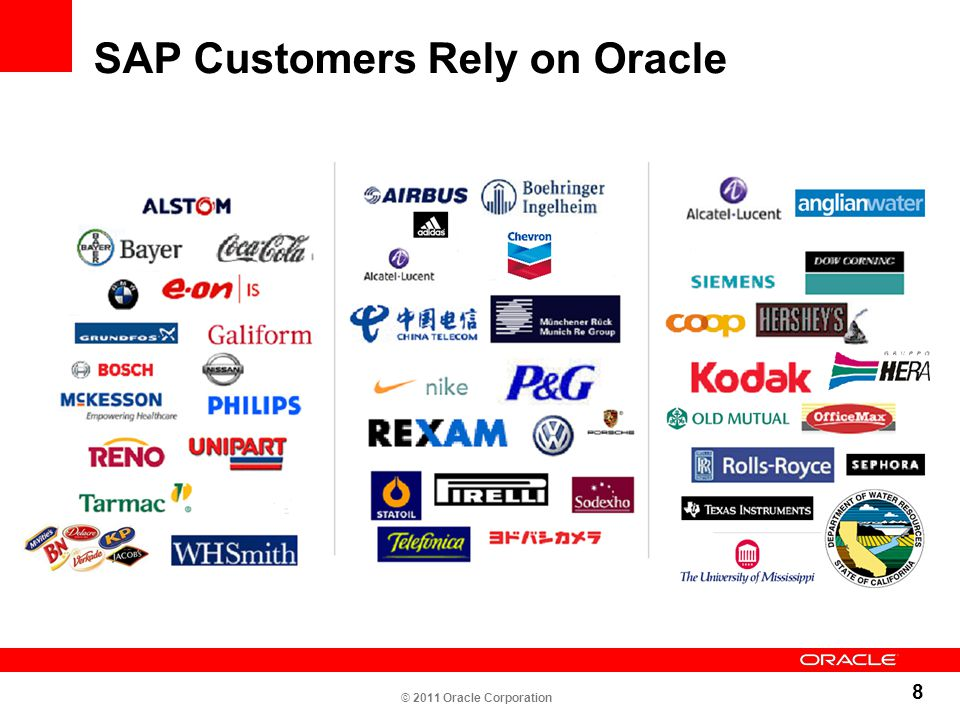 SAP Customers Rely on Oracle