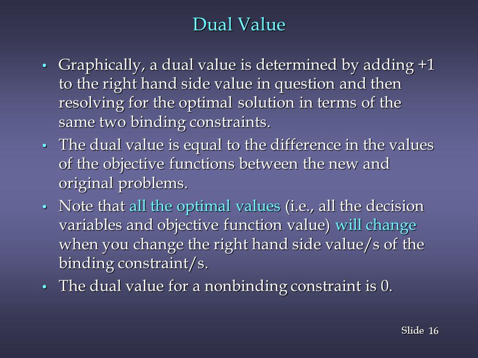 Dual Value