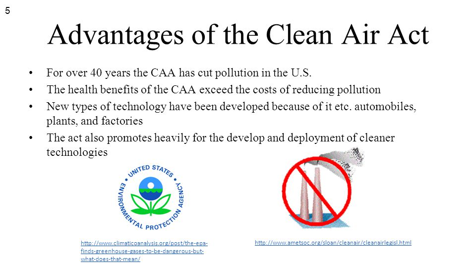 Advantages of the Clean Air Act
