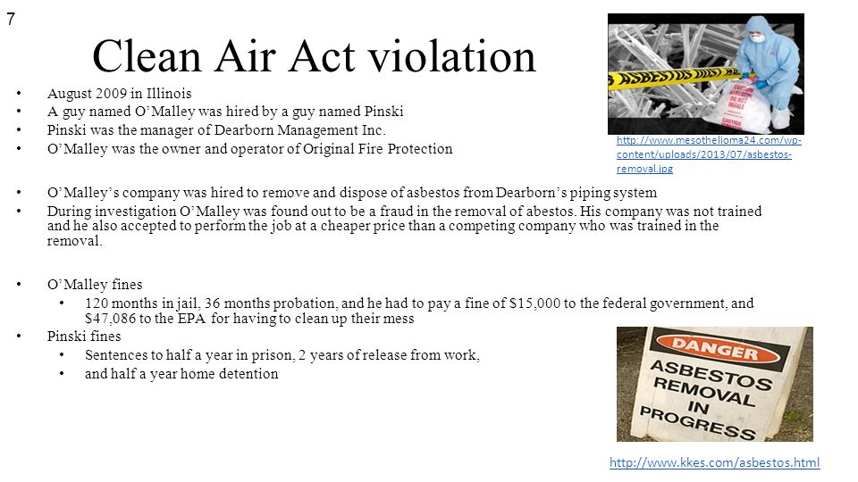 Clean Air Act violation