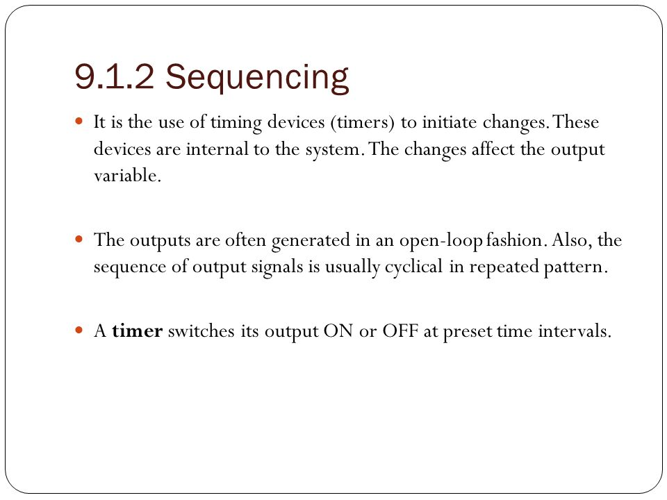 9.1.2 Sequencing