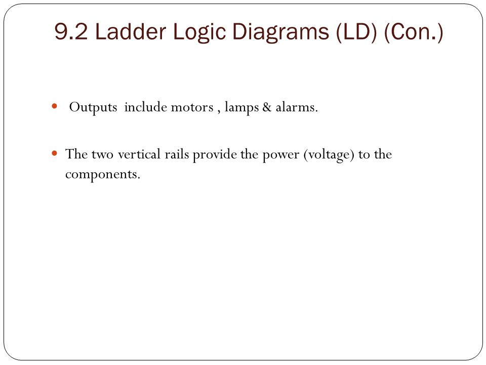 9.2 Ladder Logic Diagrams (LD) (Con.)