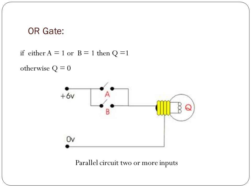 Parallel circuit two or more inputs