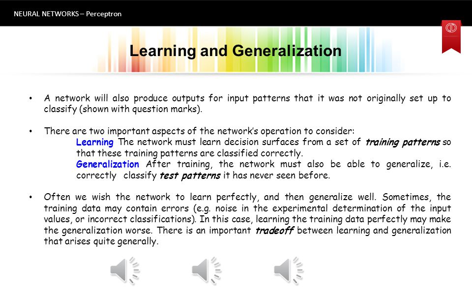 Learning and Generalization